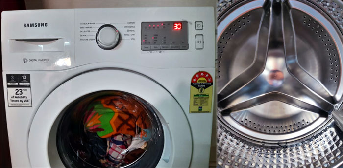 Samsung 6.0 Kg Inverter 5-Star Front-(WW60R20GLMATL) is one of the best front load washing machines