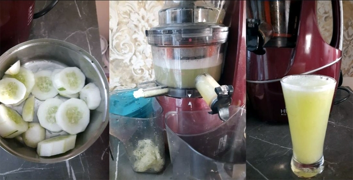 Fruit juice made from Hestia cold press juicer