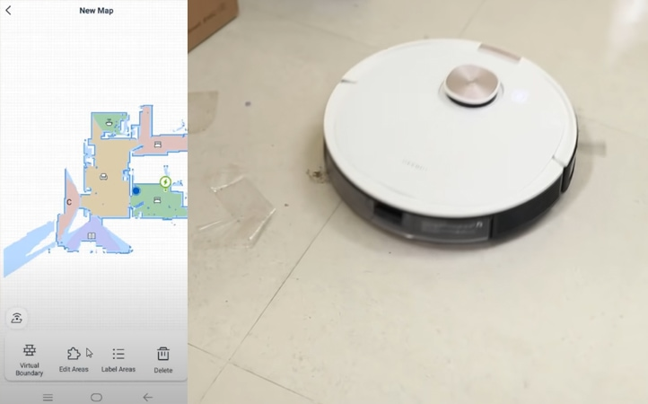 Robot vacuum cleaner smartphone compatibility