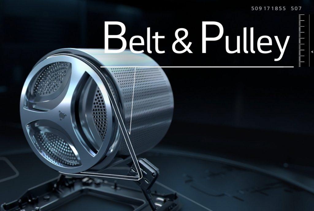 Belt drive motor
