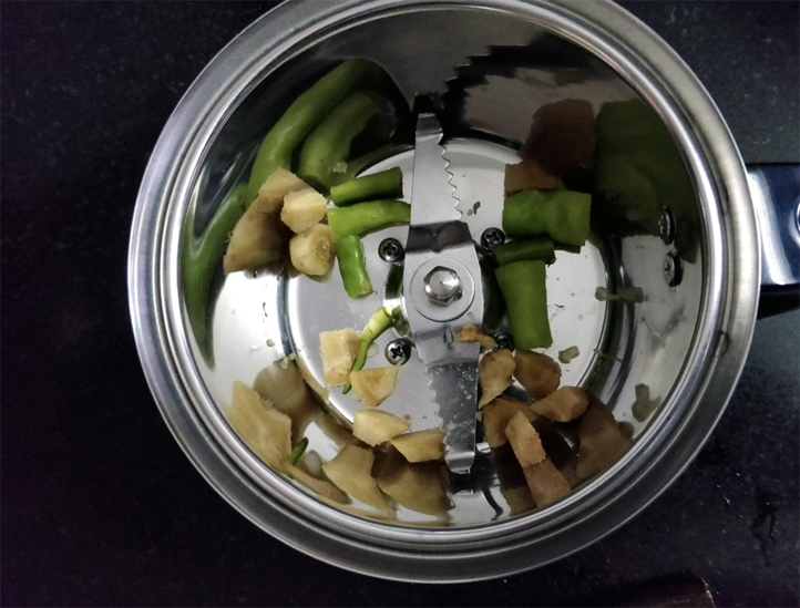 Chutney grinding blade in mixie