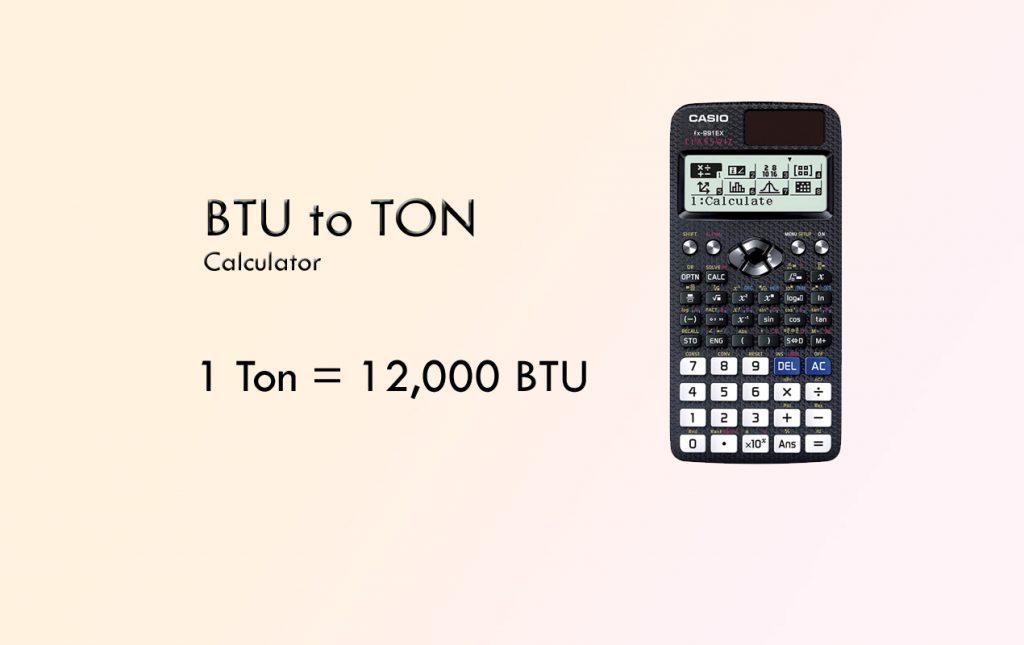 btu to ton conversion calculator
