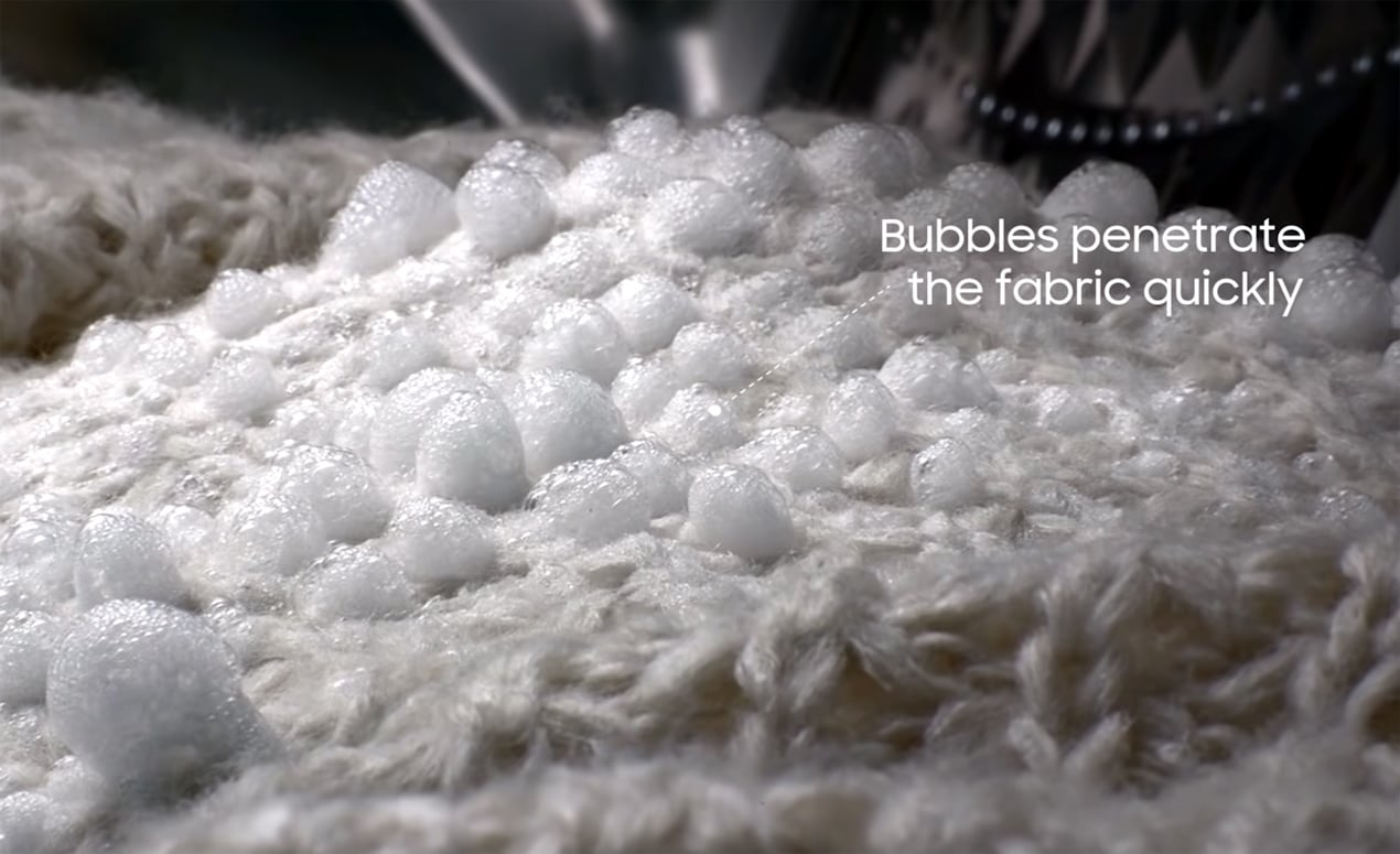 Bubbles in Ecobubble washer