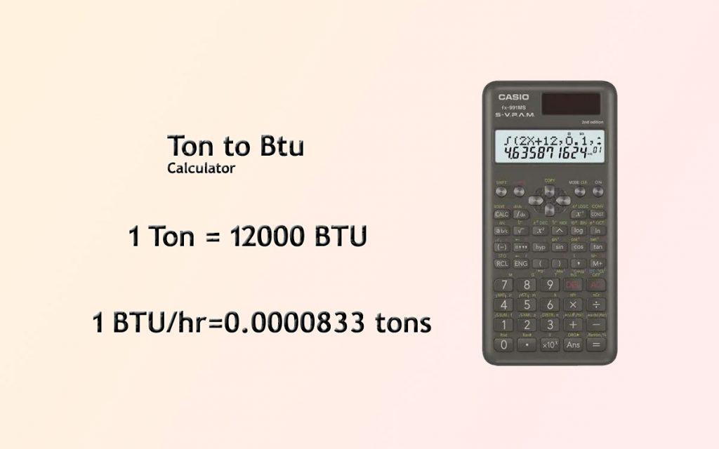 Ton to Btu conversion